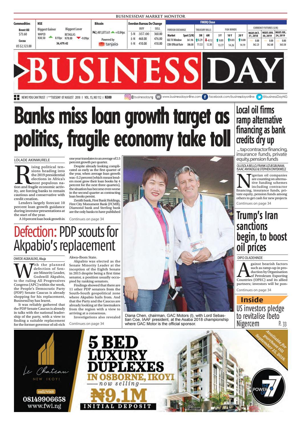 BusinessDay 07 Aug 2018 by BusinessDay - issuu