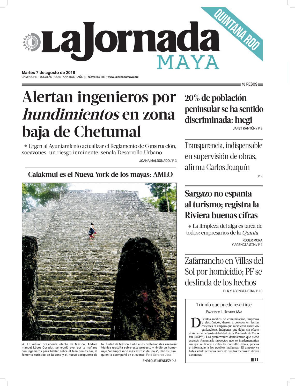 La Jornada Maya · martes 7 de agosto de 2018 by La Jornada Maya - issuu