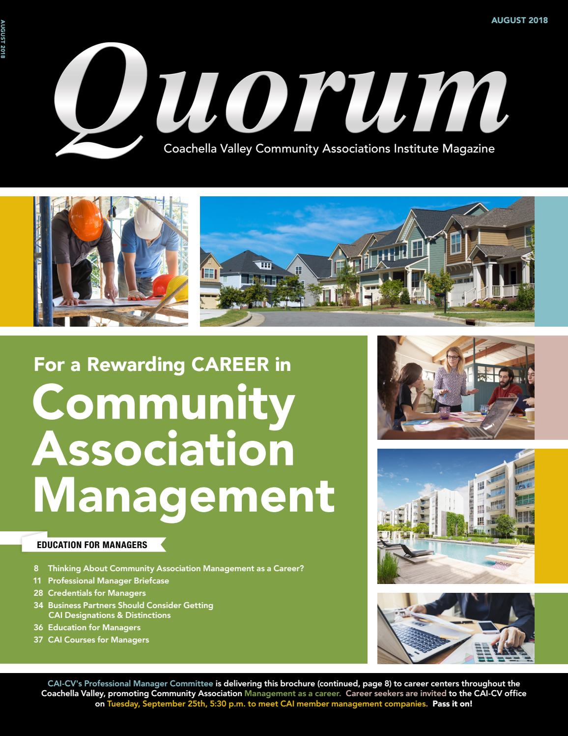 August Quorum 2018 by CAI-Coachella Valley Chapter - issuu