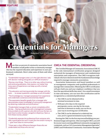 Page 28 of Credentials for Managers