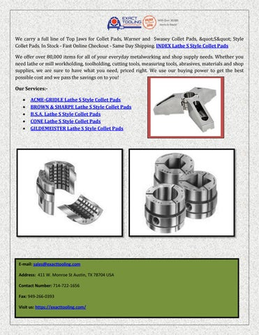 Collet Pads Exact Tooling By Pixeldirekt Issuu