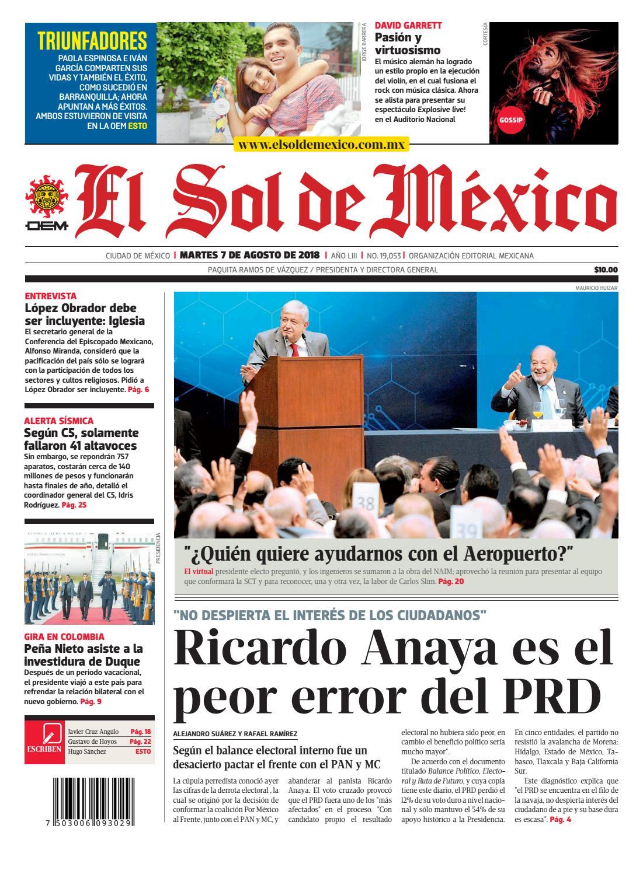 El Sol de México 07 de agosto 2018 by El Sol de México - issuu 445a0e54e86