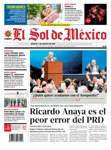 El Sol de México 07 de agosto 2018 by El Sol de México - issuu 9b1fb98da62
