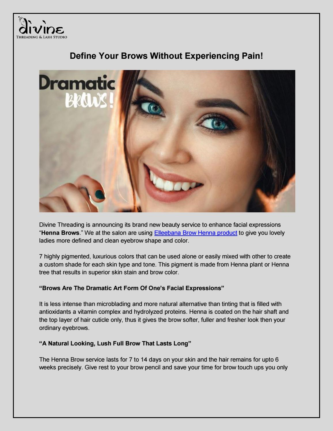 Define Your Brows Without Experiencing Pain By Devid Martin Issuu