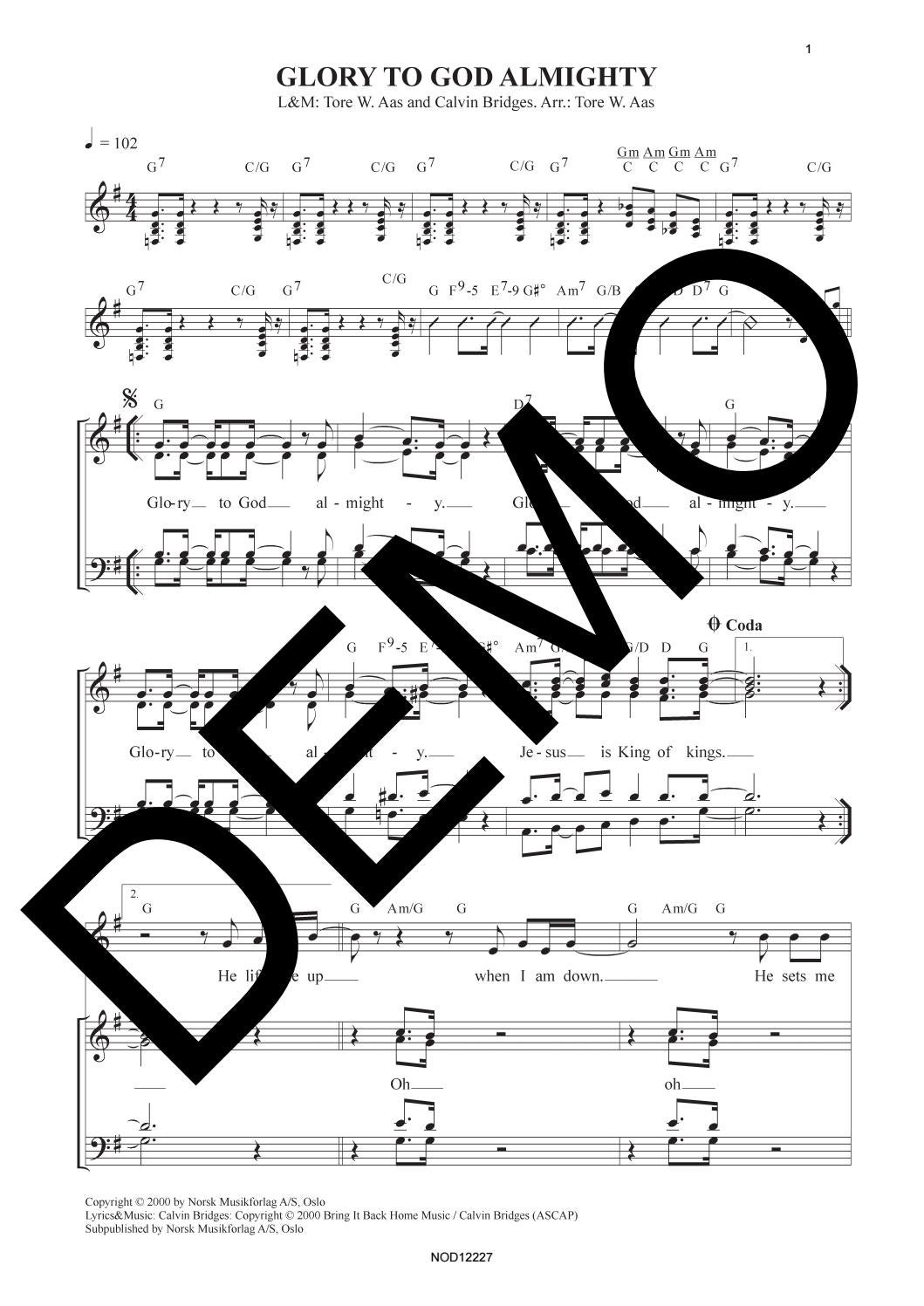 Oslo Gospel Choir Glory To God Almighty By Musikkforlagene