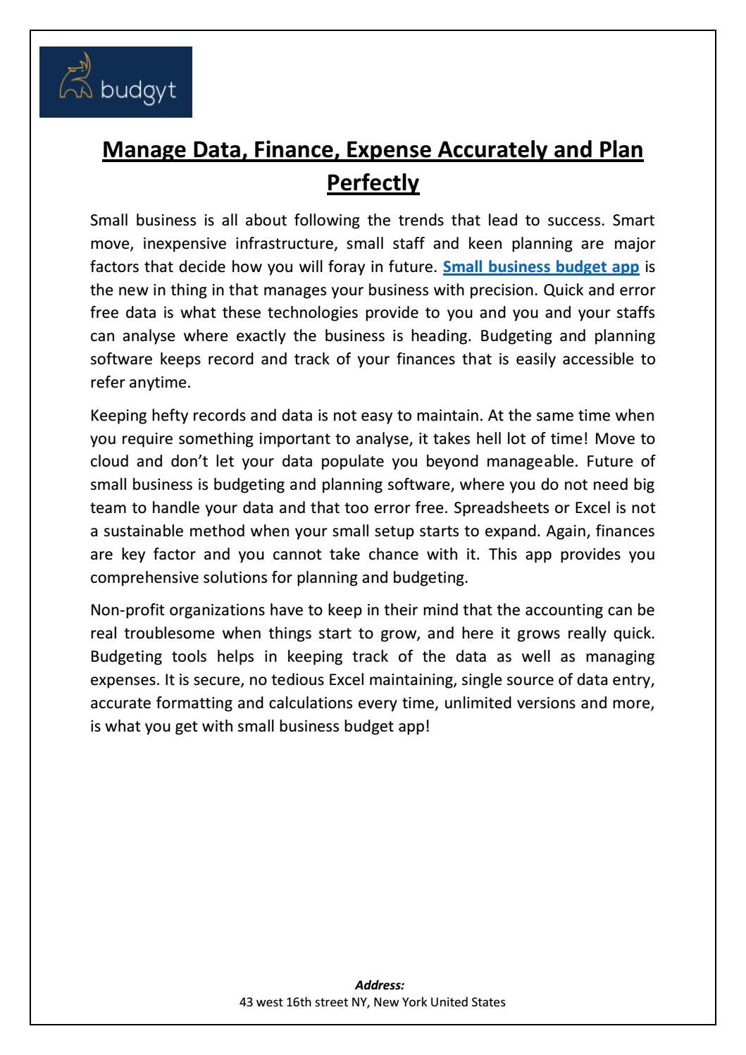 small business budget app by budgyt issuu