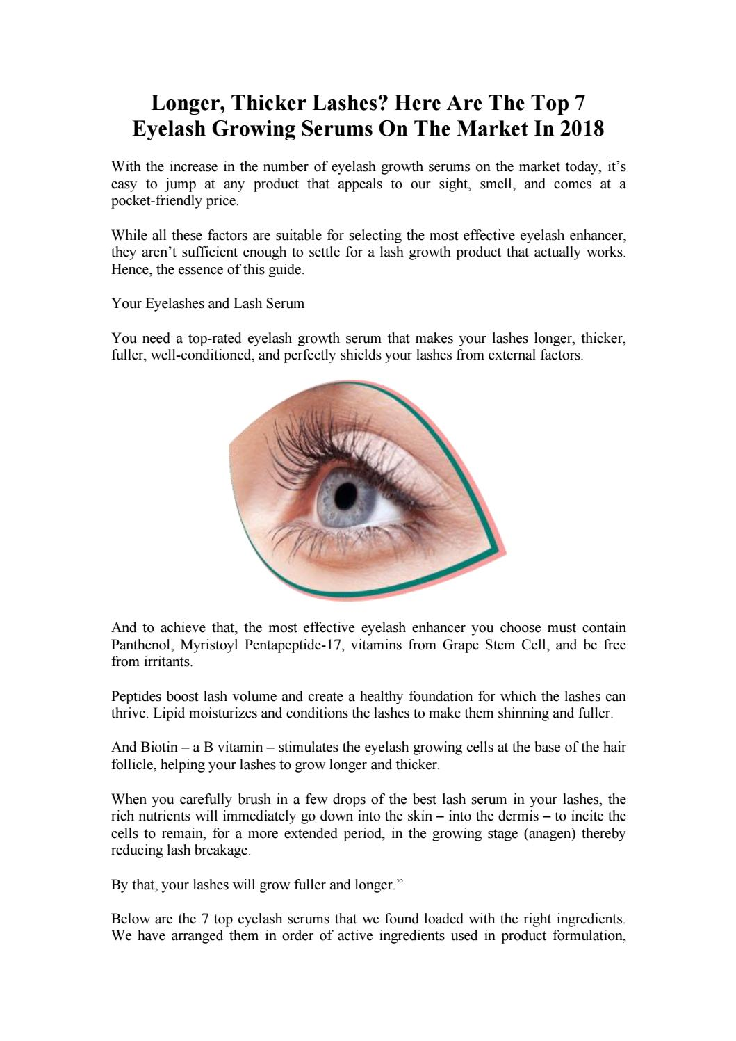 Longer Thicker Lashes Here Are The Top 7 Eyelash Growing Serums On