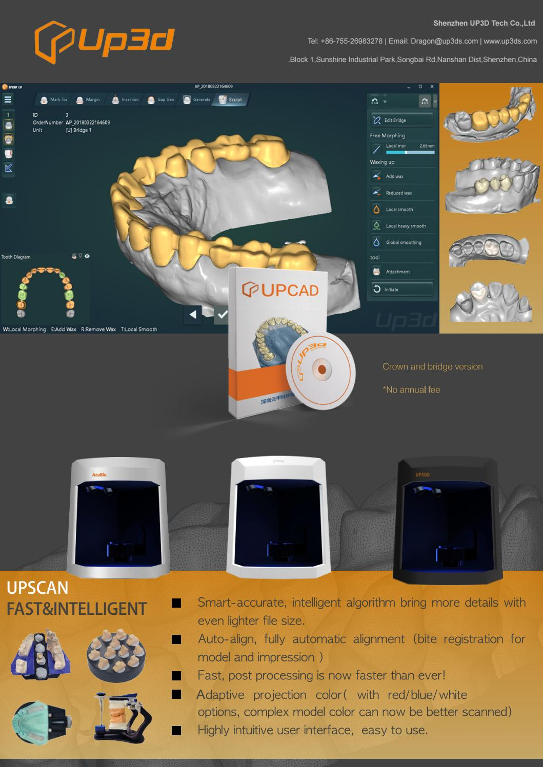 3d dental impression and model scanner brochure by Yun Jia