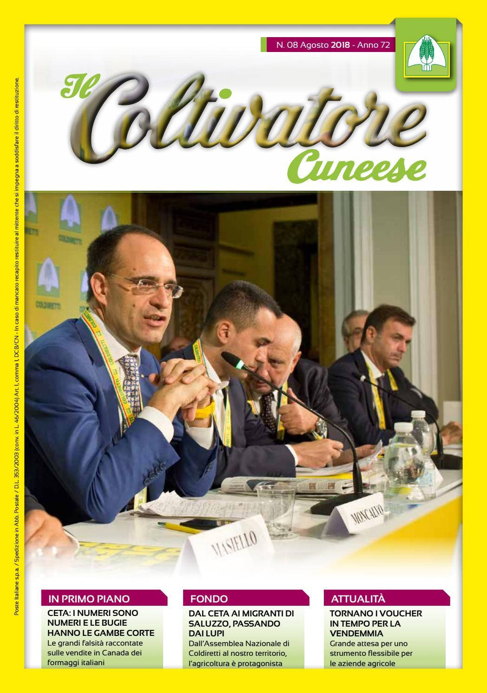 Coltivatore Cuneese n. 08 Anno 2018 by Federazione Provinciale Coldiretti  Cuneo - issuu 599a3023fa4