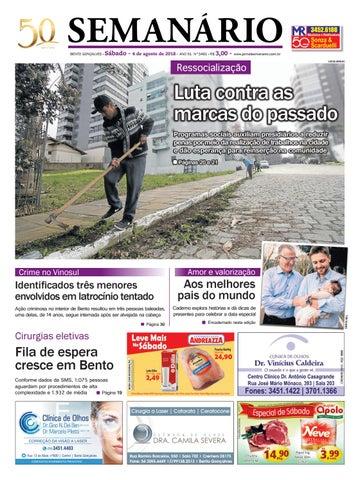 4767477c0b5 Jornal Semanário – 04 de agosto de 2018 – ano 51 – nº 3460 by Jornal ...