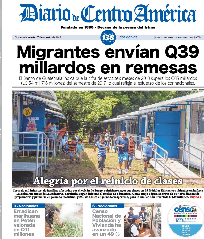 Edición del Diario de centro américa del 07 de agosto 2018 by Diario ...