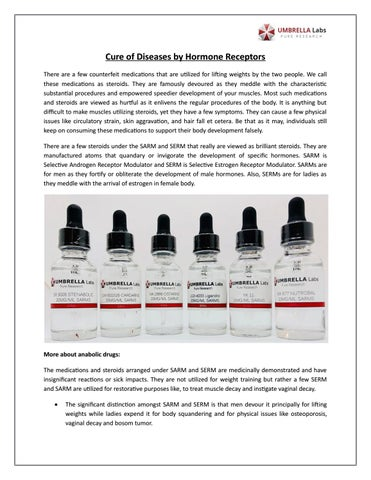 Cure of Diseases by Hormone Receptors by Umbrella Labs SARMS
