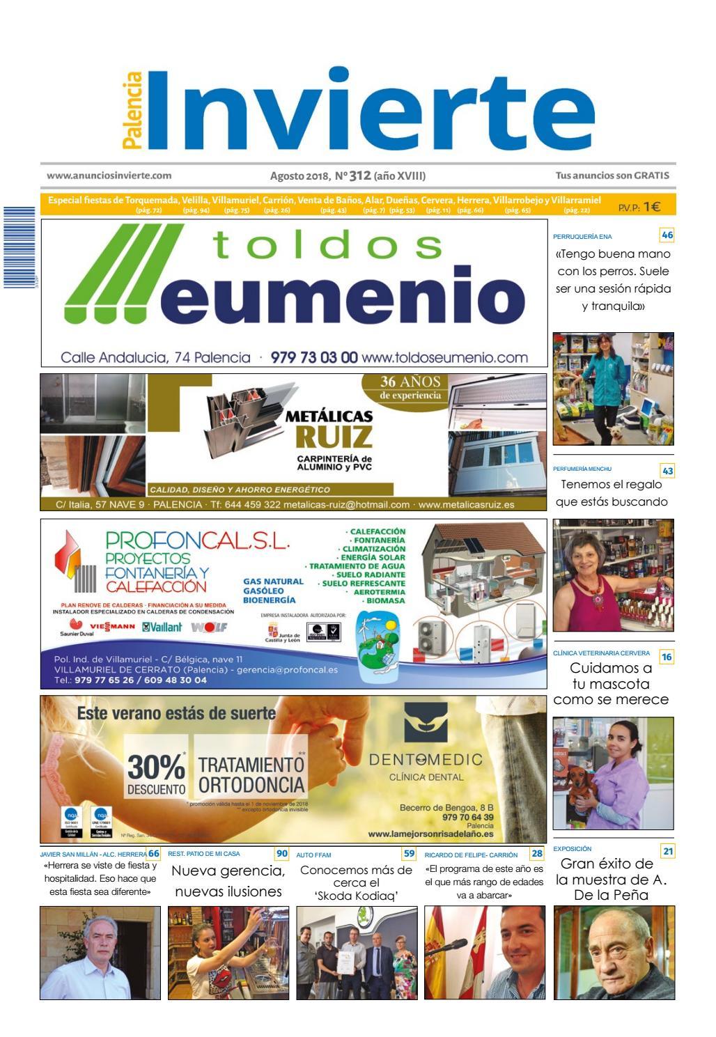 312 Agosto 2018 By Periódicos Invierte Palencia Issuu