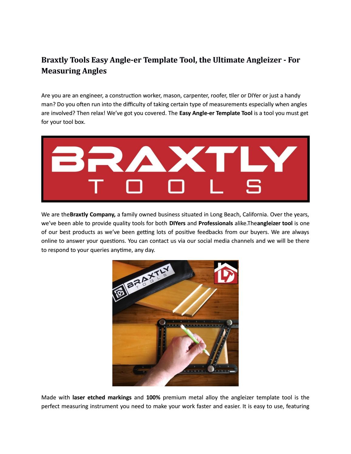 Braxtly Tools Easy Angle Er Template Tool The Ultimate Angleizer For Measuring Angles