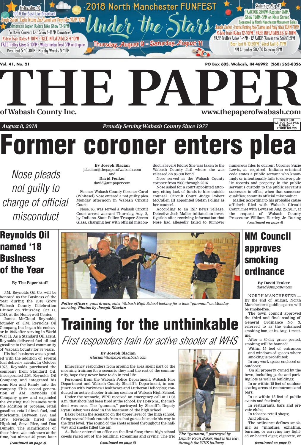 The paper of wabash county aug 8 2018 by the paper of wabash the paper of wabash county aug 8 2018 by the paper of wabash county issuu fandeluxe Gallery