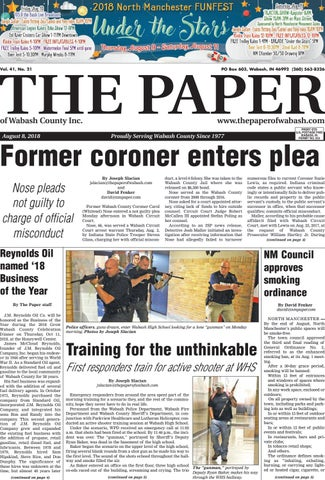 The Paper Of Wabash County Aug 8 2018 By The Paper Of Wabash