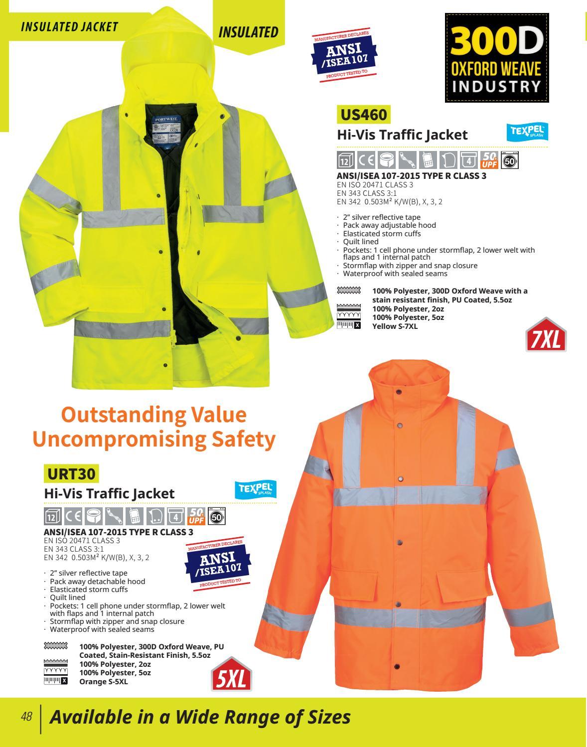 UCC 4-Band Safety Waistcoat Sicherheitsweste Klett S-5XL ISO 20471 UCC054 NEU