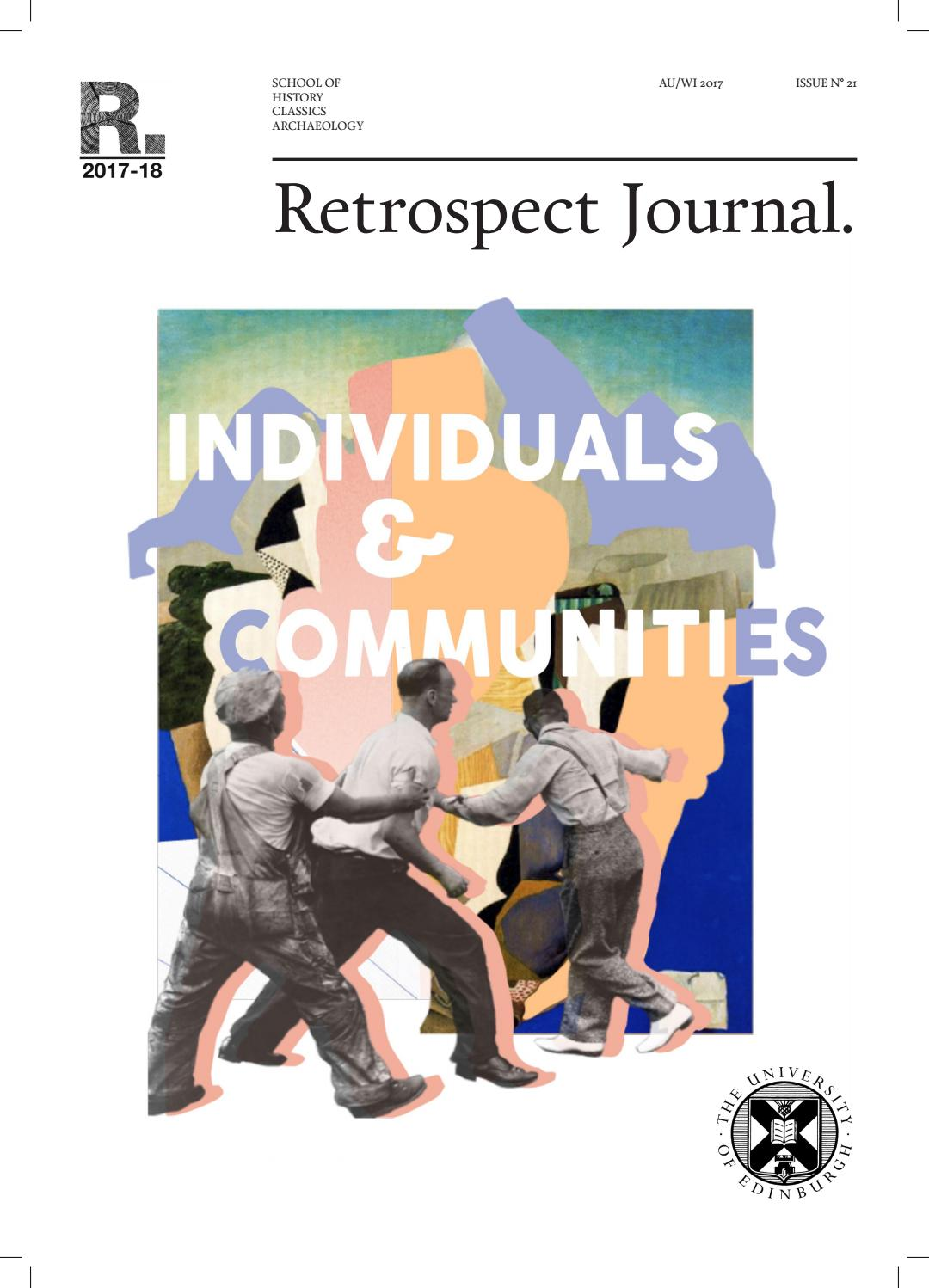 Retrospect Journal Issue No  21: Individuals and Communities