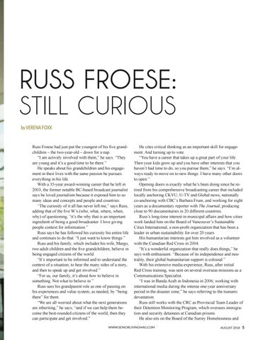 Page 7 of Russ Froese: Still Curious
