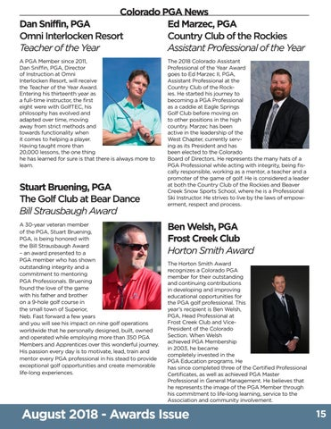 Page 15 of Thompson Highlights 2018 Colorado PGA Special Award Winners
