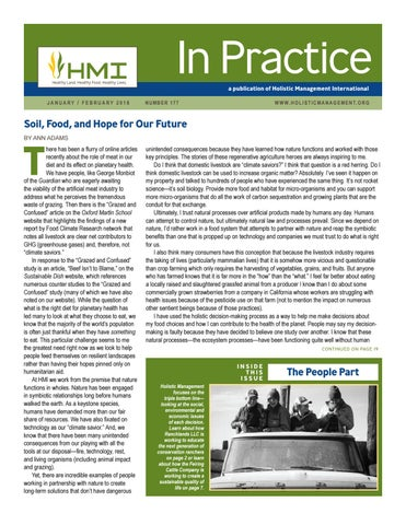 177, In Practice, January/February 2018 by HMI - Holistic