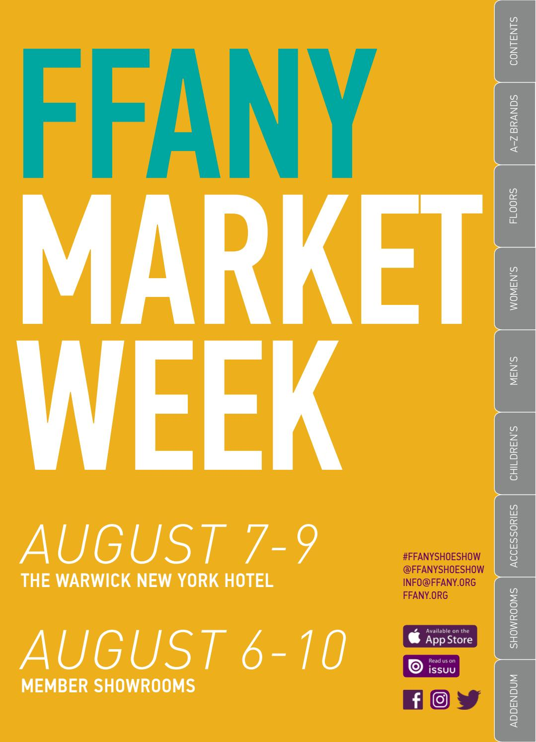 d92ff82be4a FFANY August 2019 Market Week Directory by FFANY  New York Shoe Expo ...