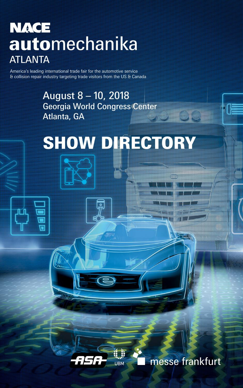 NACE Automechanika 2018 Show Directory by Messe Frankfurt