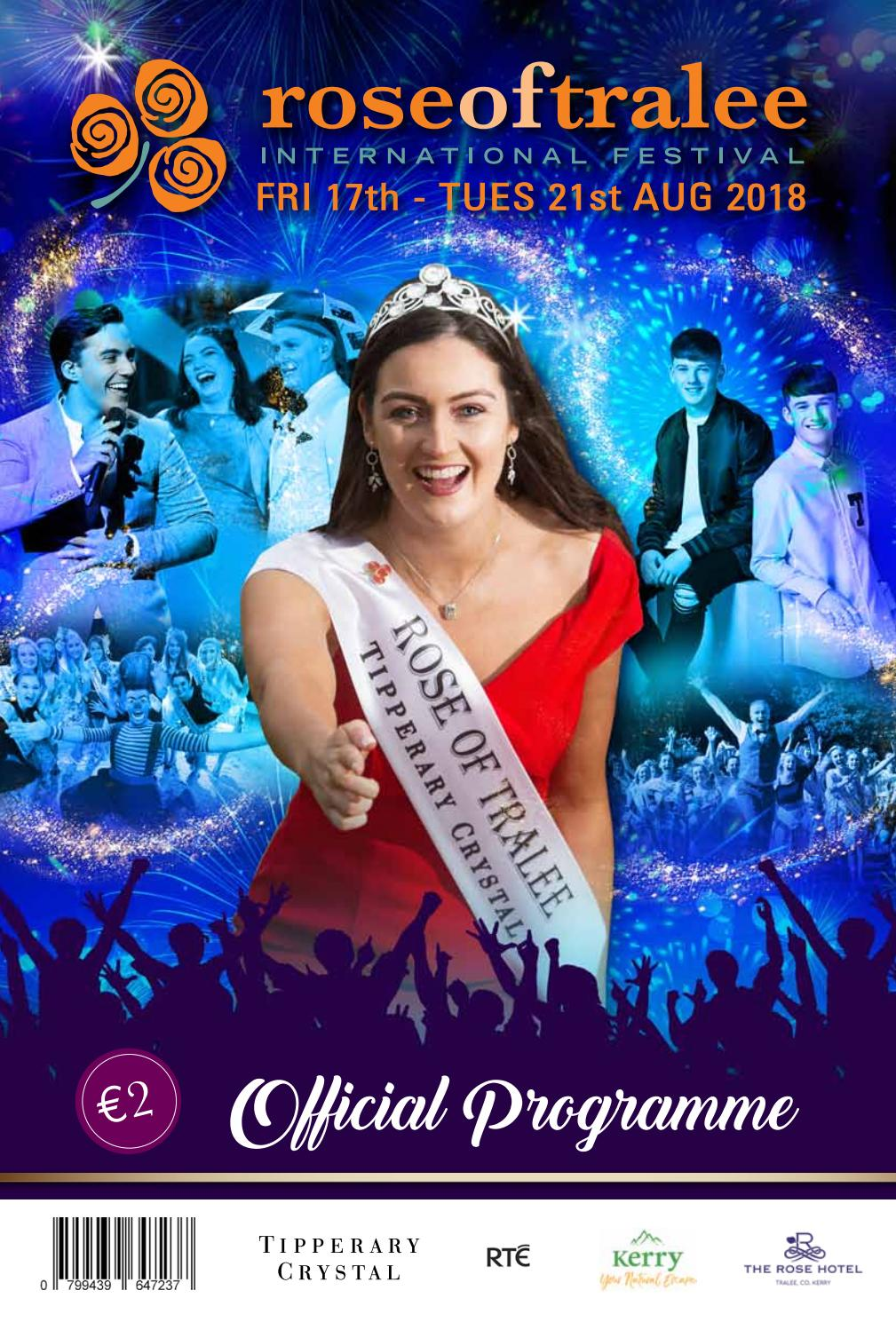Rose Of Tralee International Festival Official Programme 2018 By Rose Of Tralee International Festival Issuu