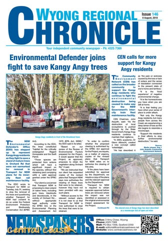 Issue 146 of Wyong Regional Chronicle by Central Coast