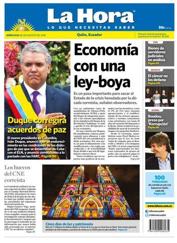 Quito 08 de agosto de 2018 by Diario La Hora Ecuador - issuu 4201b21c13c