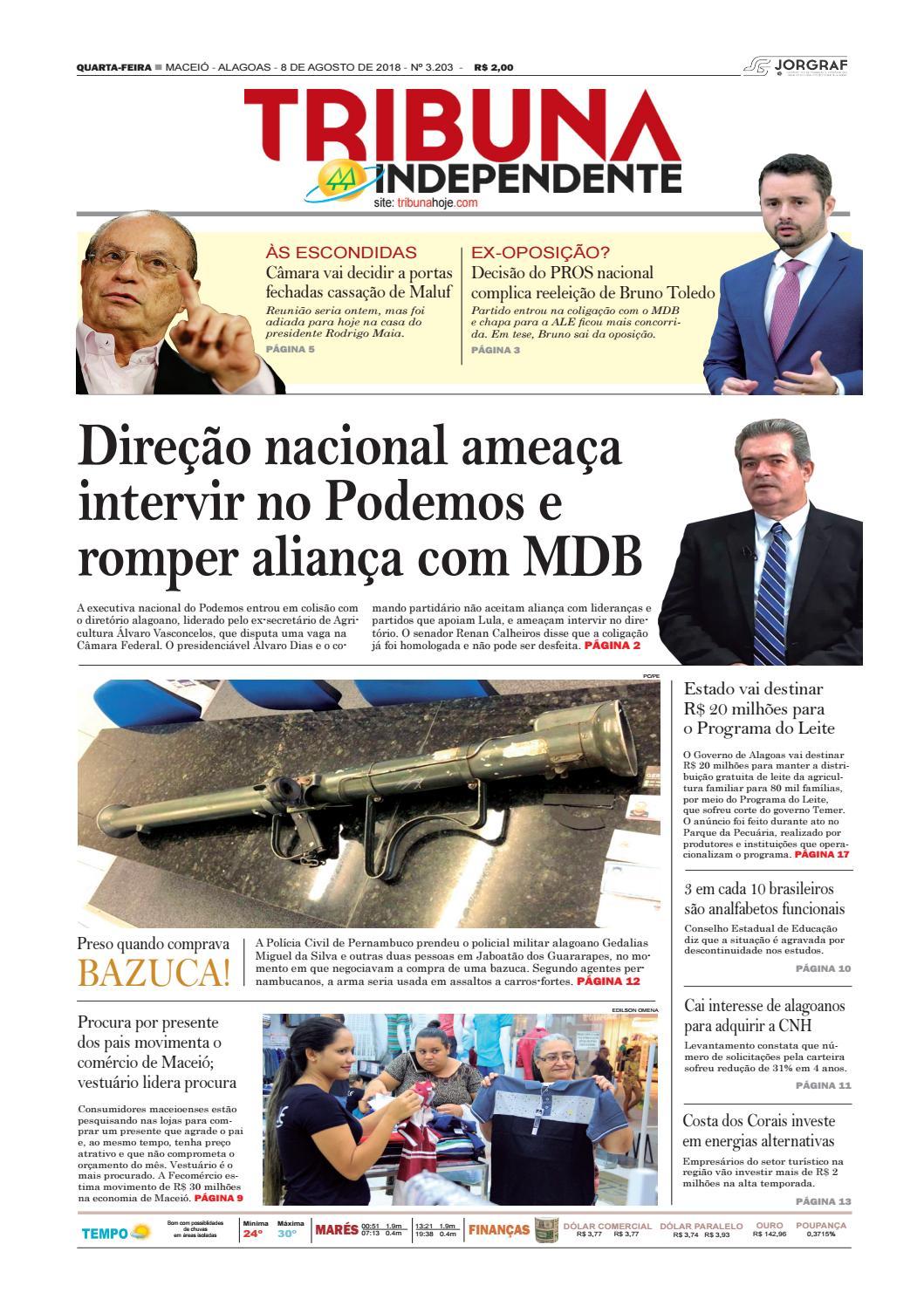 Edição número 3203 - 8 de agosto de 2018 by Tribuna Hoje - issuu 2949c8f10e57f