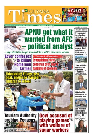 Guyana Times Wednesday, August 8, 2018