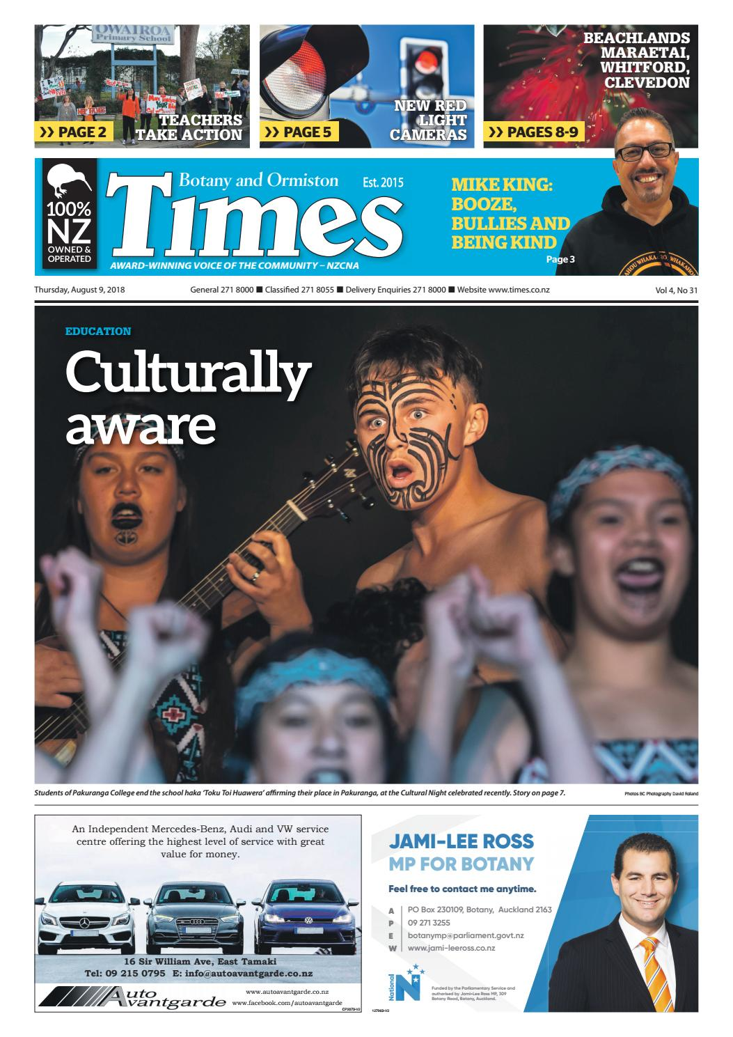 Botany and Ormiston Times, Thursday, August 9, 2018 by Times