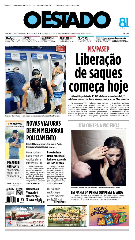 08 08 2018 - Edição 23335 by Jornal O Estado (Ceará) - issuu cd10c47bbe408