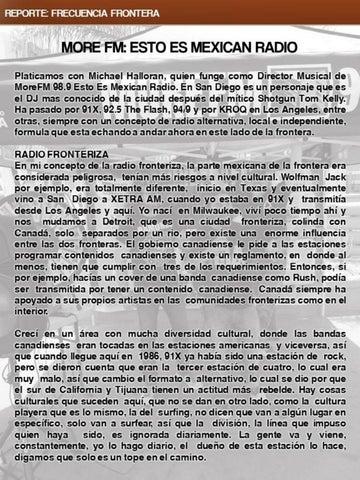 Page 28 of More FM: Esto Es Mexican Radio