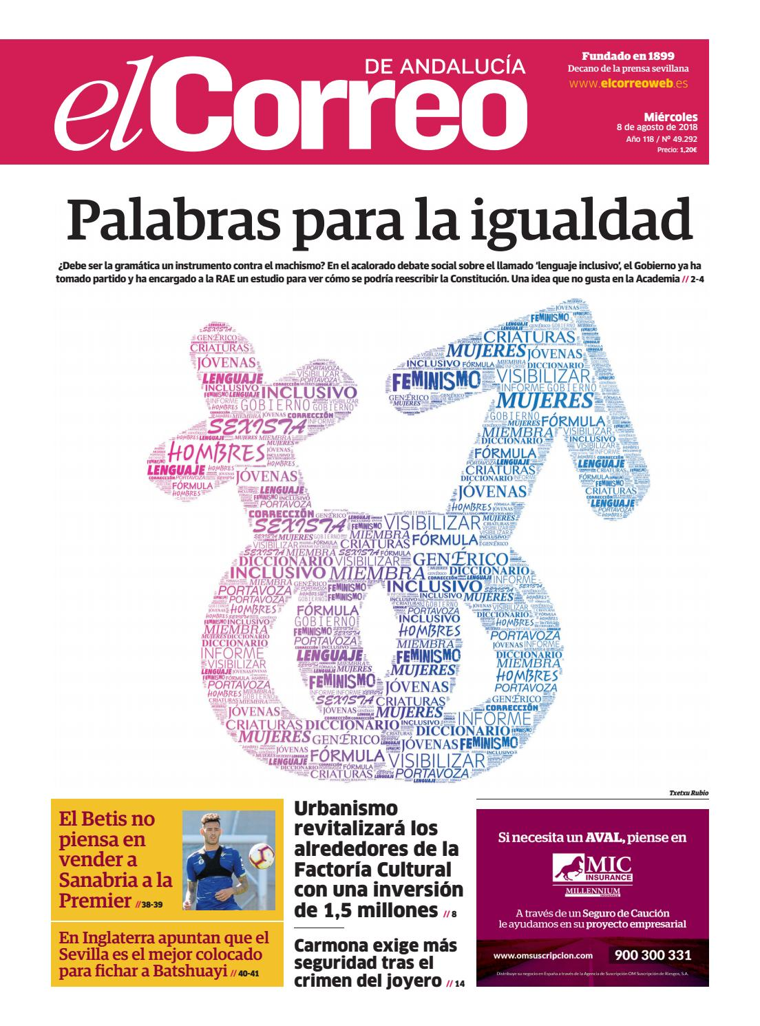 08.08.2018 El Correo de Andalucía by EL CORREO DE ANDALUCÍA S.L. - issuu bafd8012d06