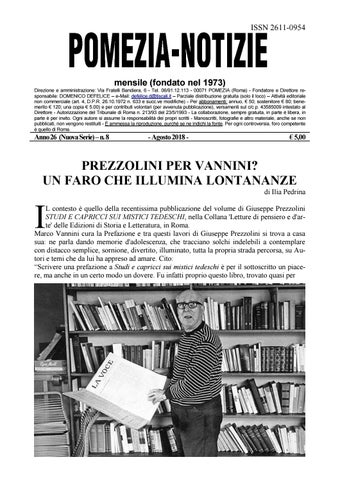 fccd10596850 Pomezia Notizie 2018 8 by Domenico - issuu