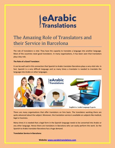 Arabic Translation Services Barcelona by business and Health - issuu