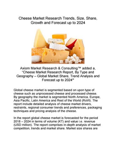 Asian cheese market