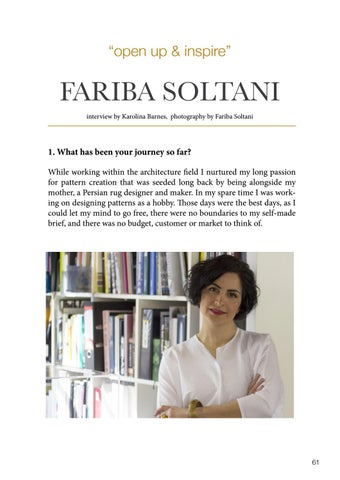Page 61 of Open up & inspire: Fariba Soltani