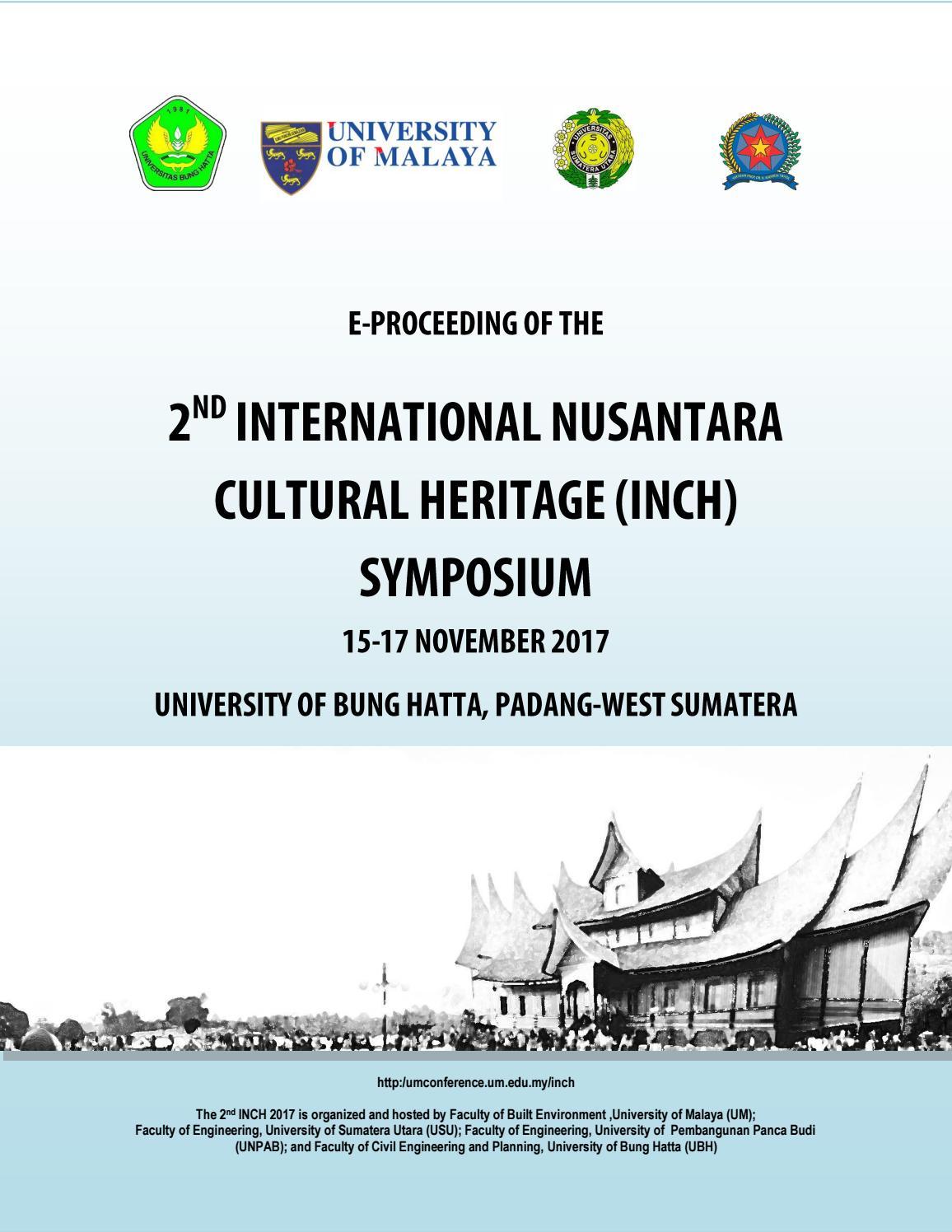 E Proceeding Of The 2nd International Nusantara Cultural Heitage Symposium By Rudielfendes Issuu