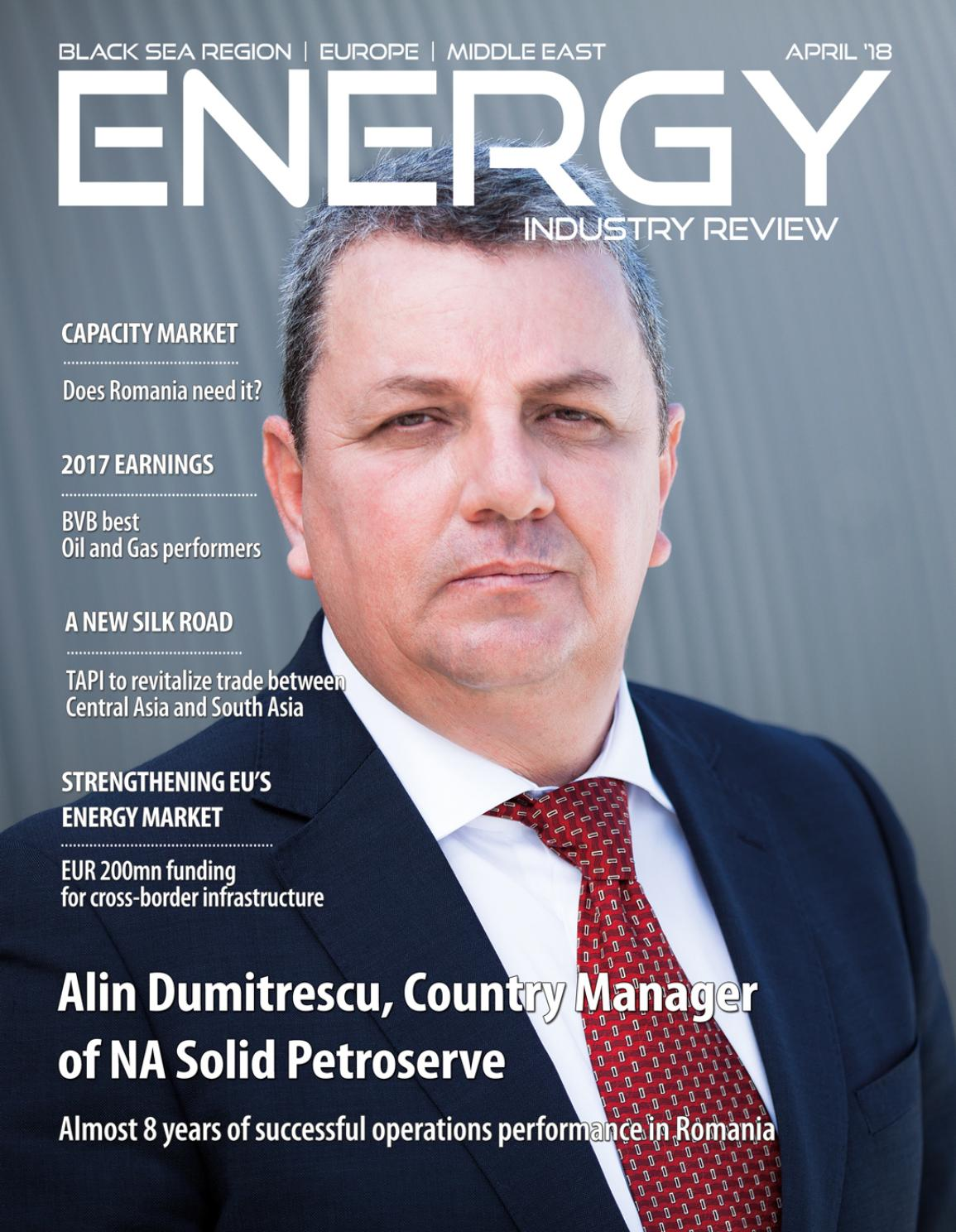 Anastasia Dumitrescu energy industry review - april 2018energy industry
