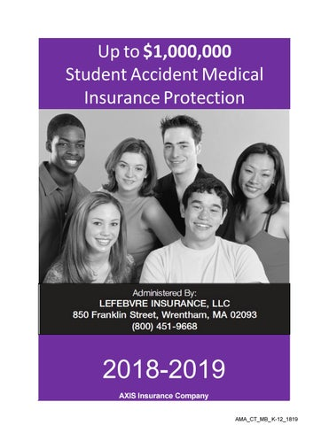 cc4d764ce1 Student Insurance Brochure 2018-2019 by Waterford Public Schools - issuu