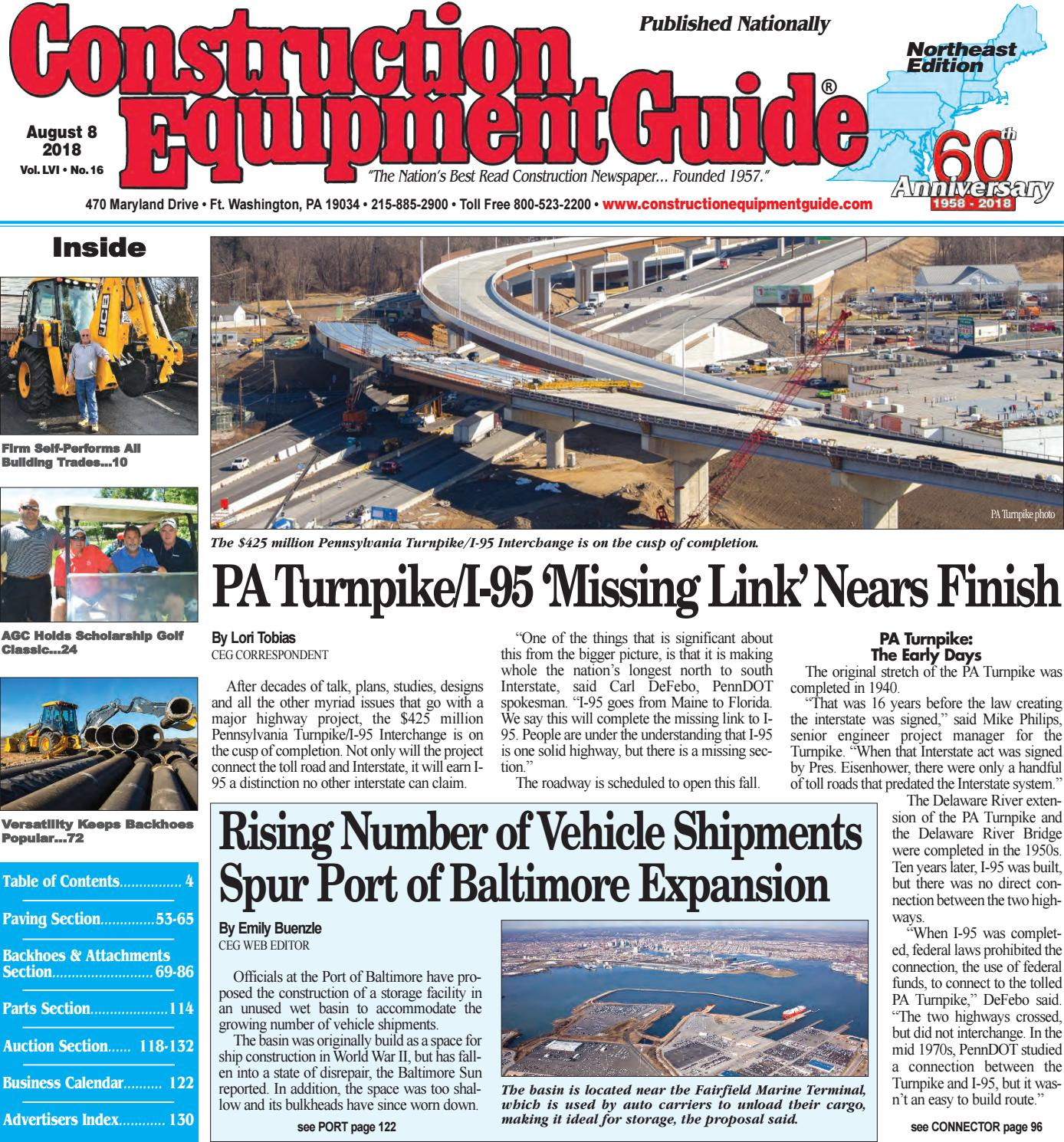 Northeast 16 August 8 2018 By Construction Equipment Guide Issuu 1982 Peterbilt 356 Turn Signal Wiring Diagram