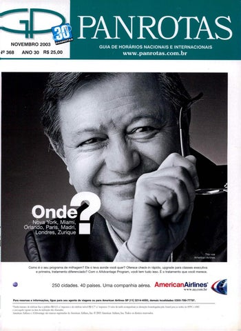 Guia PANROTAS - Edição 368 - Novembro 2003 by PANROTAS Editora - issuu 0a6c74bb7c0d2