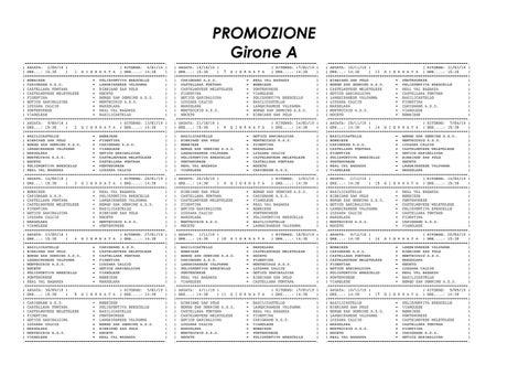 Calendario Promozione Girone A.Calendario Promozione Girone A By Monrif Net Issuu