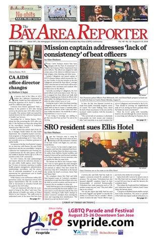 August 9 2018 Edition Of The Bay Area Reporter By Bay Area Reporter