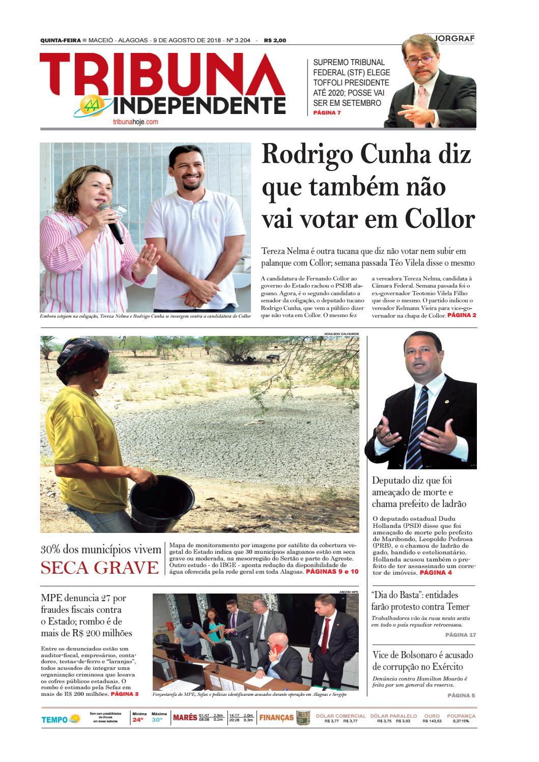 27d80672553 Edição número 3204 - 9 de agosto de 2018 by Tribuna Hoje - issuu