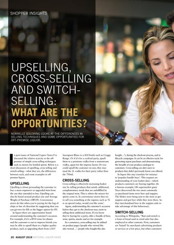 Page 20 of UPSELLING, CROSS-SELLING AND SWITCH SELLING: WHAT ARE THE OPPORTUNITIES?